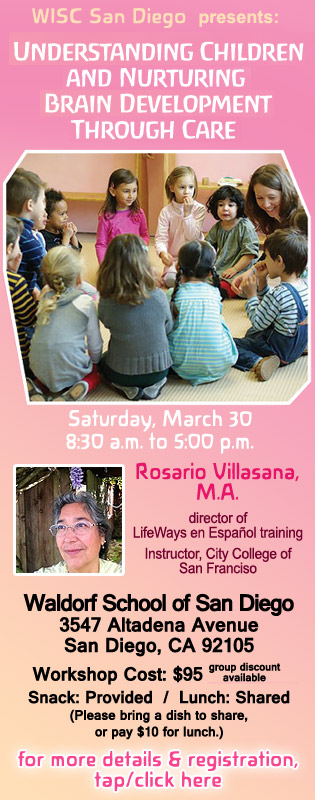 Early Childhood Workshop with Rosario Villasana, March 30